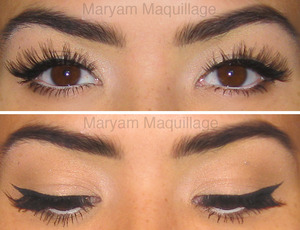 classic cat-eye liner  http://www.maryammaquillage.com/2012/01/modern-pin-up.html