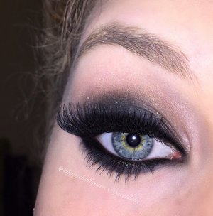 This look was inspired by flappers as they wore very dark eye makeup!  Full details are on my blog http://theyeballqueen.blogspot.com/2015/09/1930s-inspired-sultry-eye.html!