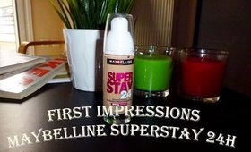 First Impressions: Maybelline Superstay Foundation 24h