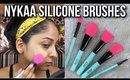 FIRST IMPRESSIONS: NYKAA Dab & Blend Silicone Brushes   Does it Work?🤔   Stacey Castanha