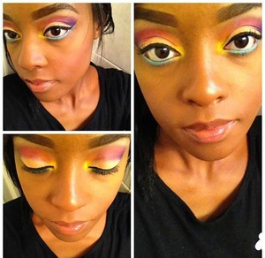 A very colorful and fun look. This look inspired by the summer.