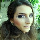 Black and Purple glitter Party makeup