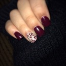 Burgundy nails!