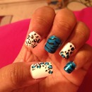 Blue Black and white Leopard print :)