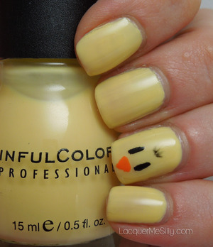 Simple chick accent nail using Sinful Colors Unicorn. More information can be found on my blog post: