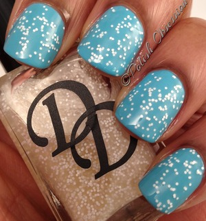 Layered over Barry M Turquoise  http://www.polish-obsession.com/2013/02/polish-days-back-to-nature.html