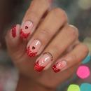 Unha para o Natal Glitter Vermelho