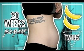 20 WEEKS PREGNANT BELLY WITH TWINS vs SINGLETON | Twin Tuesday