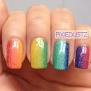 Ombre Rainbow Nails <3