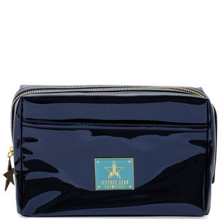 Makeup Bag Reflective Dark Blue