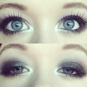 I just love black smokey eye looks and adding false lashes make it so much more DRAMATIC!! 