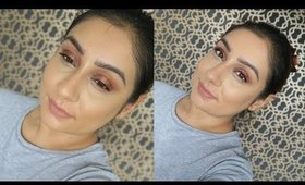 An easy makeup routine Glowing Skin Plum Smokey Eyes tutorial