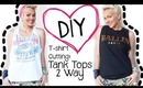 DIY T-Shirt Cutting: 2 Cute Tank Tops from T-Shirts