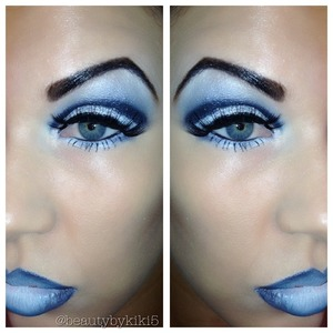 Ice queen inspired look