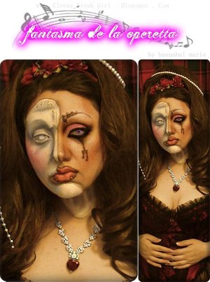 Just some random look I made that I titled as such.  Supposed to be a female version of the Phantom of the Opera.