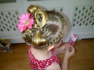 Braided crown'. Bow interlinked pieces