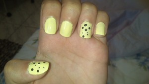 I just made this nails anda I love it! I am horrible for paint nails, but this time I really like it! xoxo