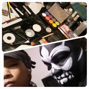 Mardi Gras Carnival makeup