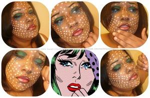 Makeup used:  Coastal Scents 88 Eyeshadow Palette   Coastal Scents Camouflage Palette  Clinque Foundation  Kiss liquid liner  Rimmel Max Curves Mascara  NYX Jumbo Pencil - Milk  NYX Lipstick -Bruised