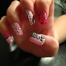 pink rhinestone look