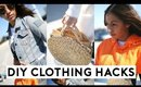 5 DIY CLOTHING HACKS EVERY GIRL MUST KNOW!! 5 DIY IDEAS YOU NEED TO TRY!!