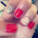 Flower Pearly Nails