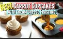 BEST CARROT CUPCAKES you'll make, Best Moist Carrot Cupcake Recipe with Cream Cheese Frosting Tested