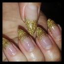 Gold Glitter Gel Extensions
