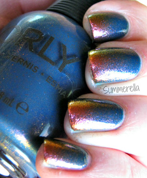 Orly High On Hope and Orly Space Cadet gradient http://summerella31.blogspot.com/2013/03/high-on-hope.html#