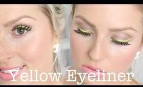 Chit Chat Getting Ready ♡ Dramatic Yellow Eyeliner, Spring Makeup