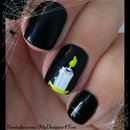Last minute Halloween nail art idea