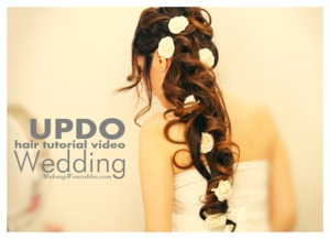 See how you can do this long, wedding, prom, homecoming hairstyle on your own hair.  http://www.makeupwearables.com/2013/09/long-wedding-hairstyles-updos-hair-tutorial.html