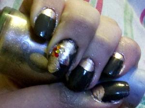 autumn nails [left hand]