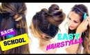 4 Incredibly CUTE & EASY Back-to-School HAIRSTYLES #2 ★ Hairstyles for Long Medium Hair