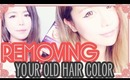 Removing hair color using the DeColour hair color stripper tutorial