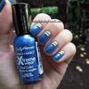 Square Studs And Blue Shimmer
