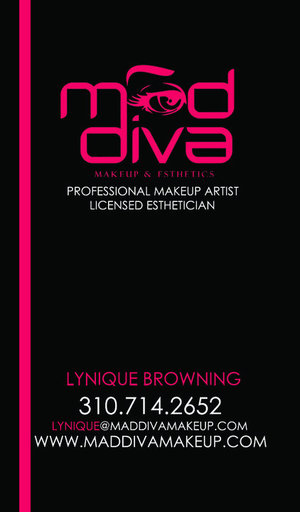 My Business Card - www.MadDivaMakeup.com for more! = )