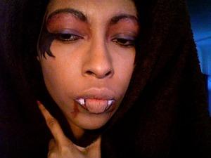 Vampire inspired look.