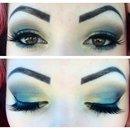 Green and gold eyeshadow