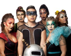 I got contacted by a agency in San Francisco to showcase my makeup artistry!   It was amazing to see my vision come to life! I wanted to do something intergalactic and this is what I came up with. Hair was styled by my friend Jonathan and the costumes were done by my other friend Amber!