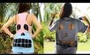 DIY: Skull Cut-Out T-Shirt Tutorial - Quick and Easy Skull Shirt DIY