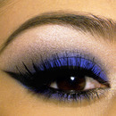 Cobalt Blue Smokey Eye