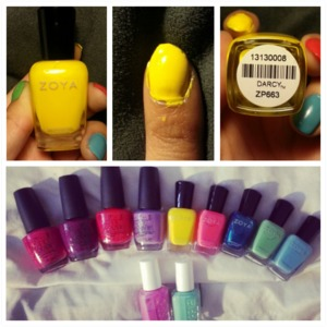 "Zoya ""Darcy"" Love love loooove this color ! so bright & smooth !(: btw yellow is my favorite color !"