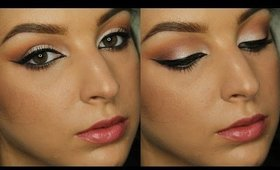 Morphe 35O Palette Makeup Tutorial   Warm Neutrals and Bold Liner ♥