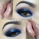 Royal blue smokey eye