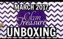 GLAM TREASURE BOX March 2017 | UNBOXING & REVIEW | Stacey Castanha