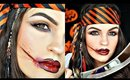 Pirate Halloween Makeup + How to Make a Fake Cut (NO Latex or Wax)