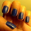 Cobalt blue & glitter