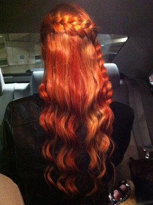 I did this lace braid with curls to my cousin for a party.