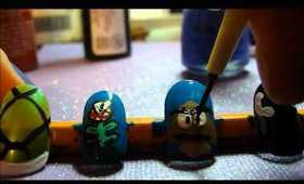 Mario Nail Art: Enemies!